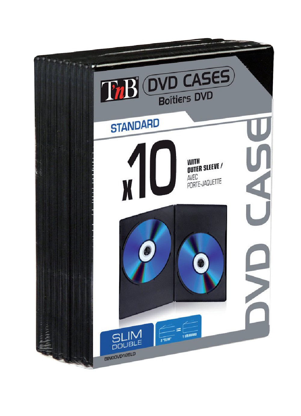 DOUBLE SLIM DVD CASES X10