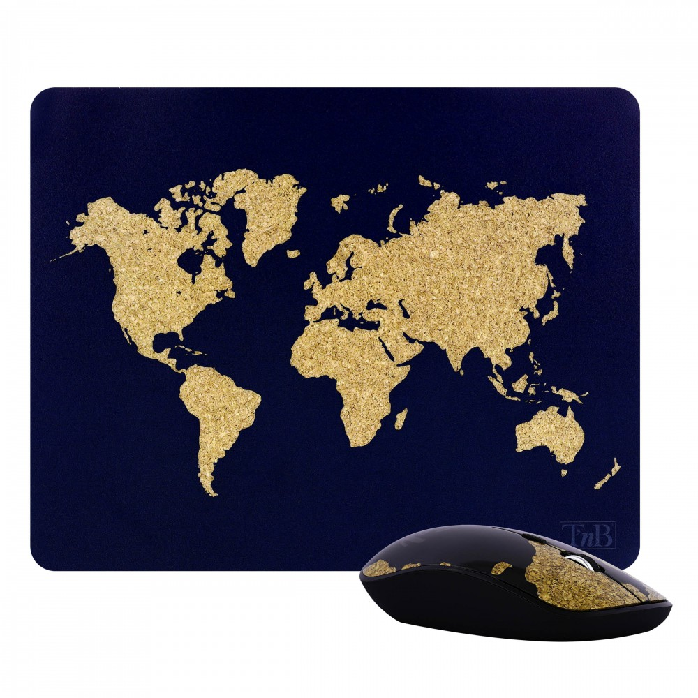 WIRELESS MOUSE + TRAVEL MOUSEPAD
