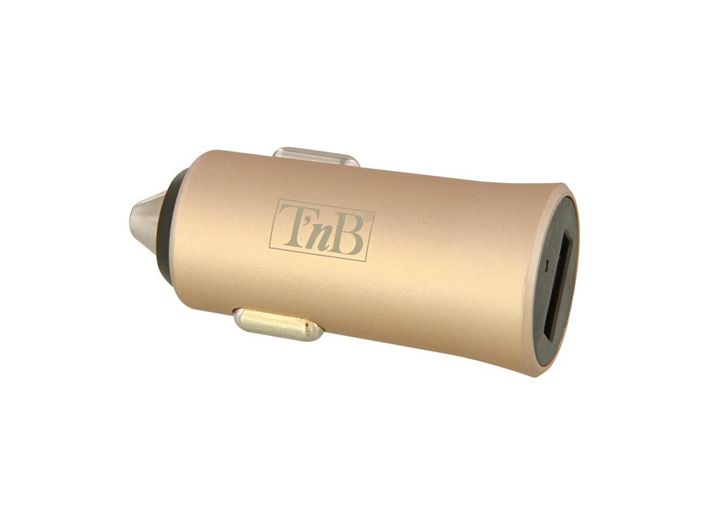 2.4A 1-PORT USB CAR CHARGER:GOLD