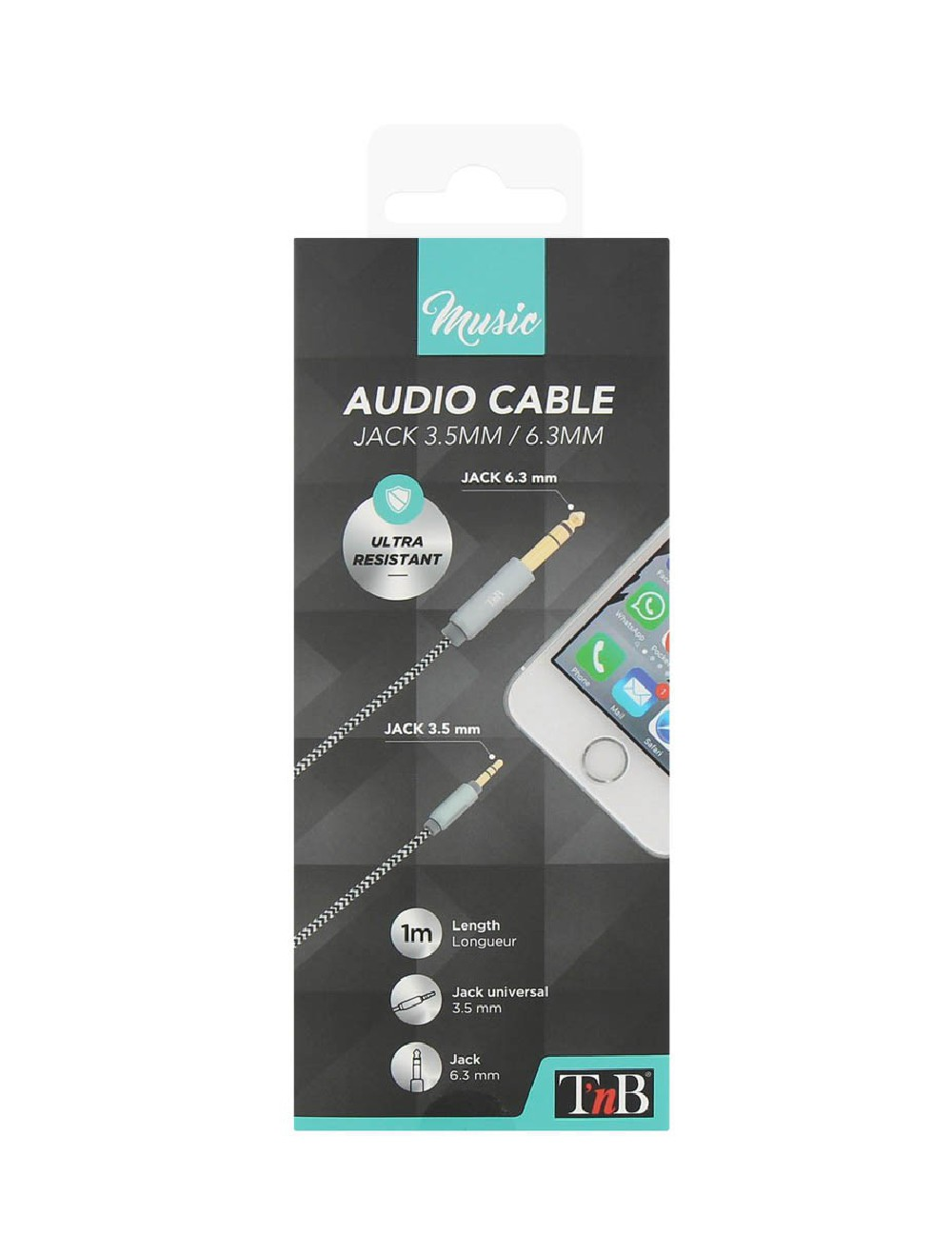 3.5 / 6.35 MM JACK AUDIO CABLE