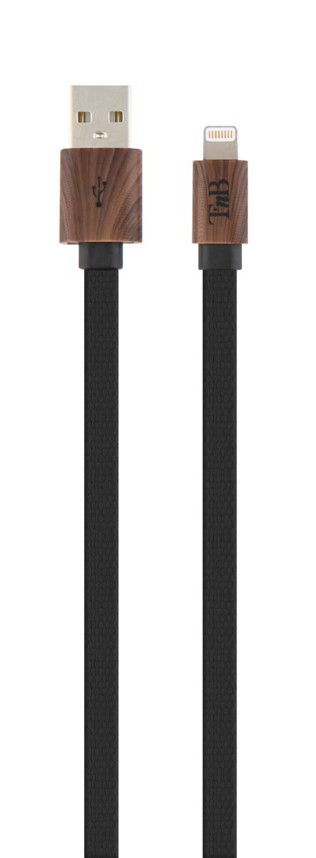 WOOD LIGHTNING CABLE 1M BLACK