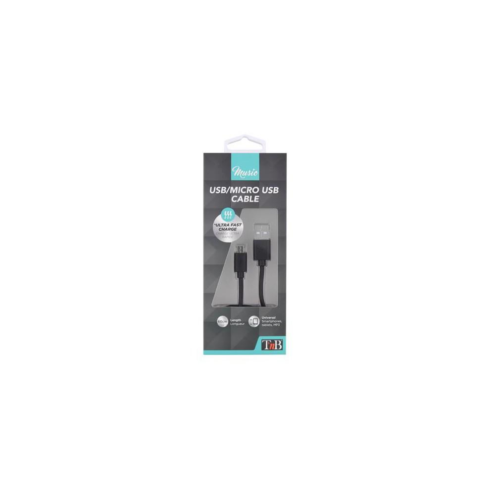 MICRO USB CABLE 60CM - BLACK
