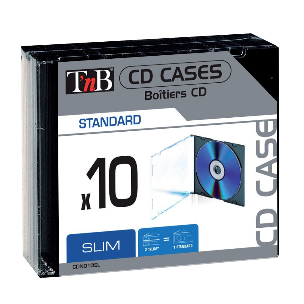 SLIM CD CASES X10