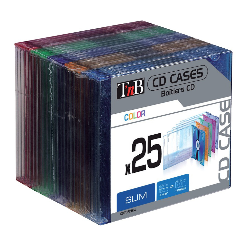 BOITIER CD SLIM CRYSTAL COLORX