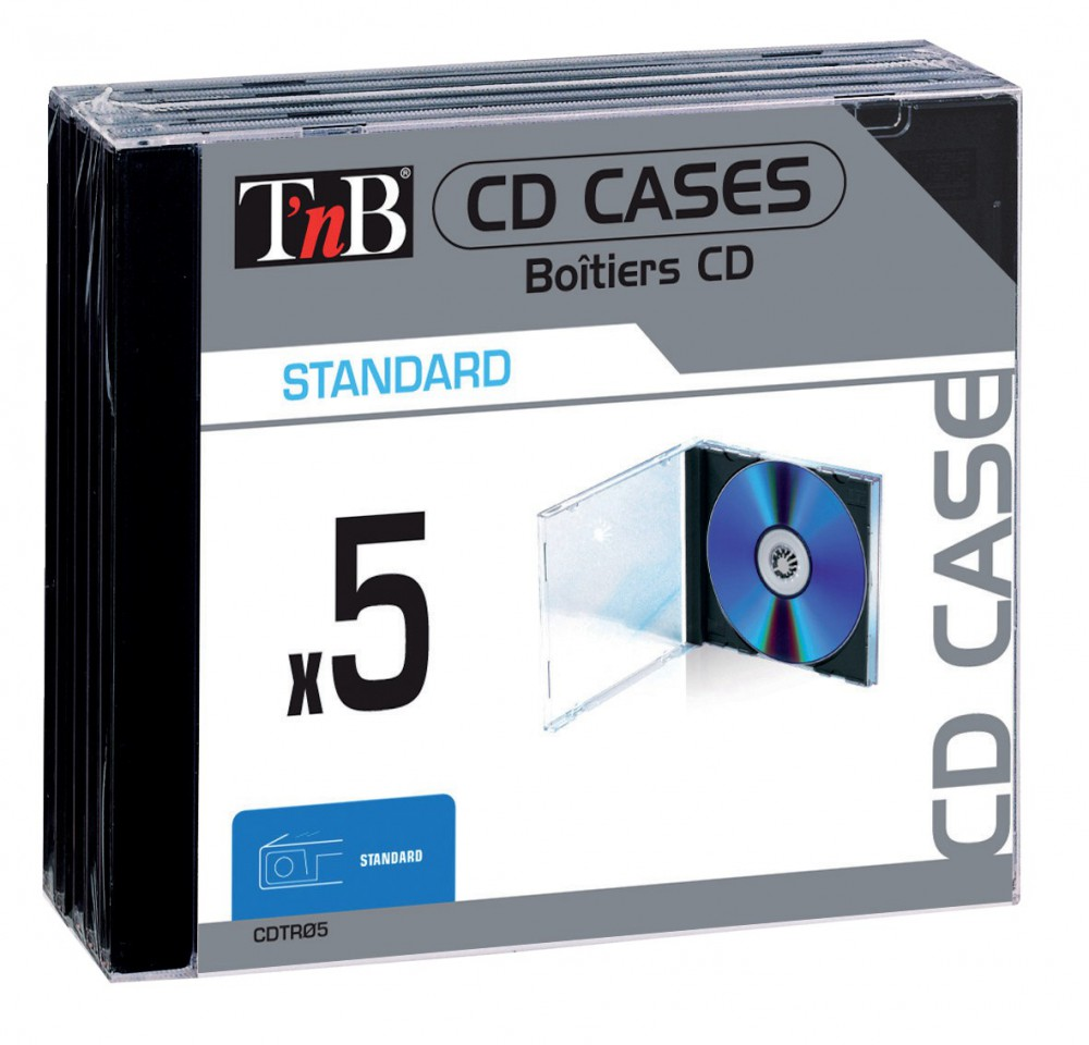 STANDARD CD CASES X5