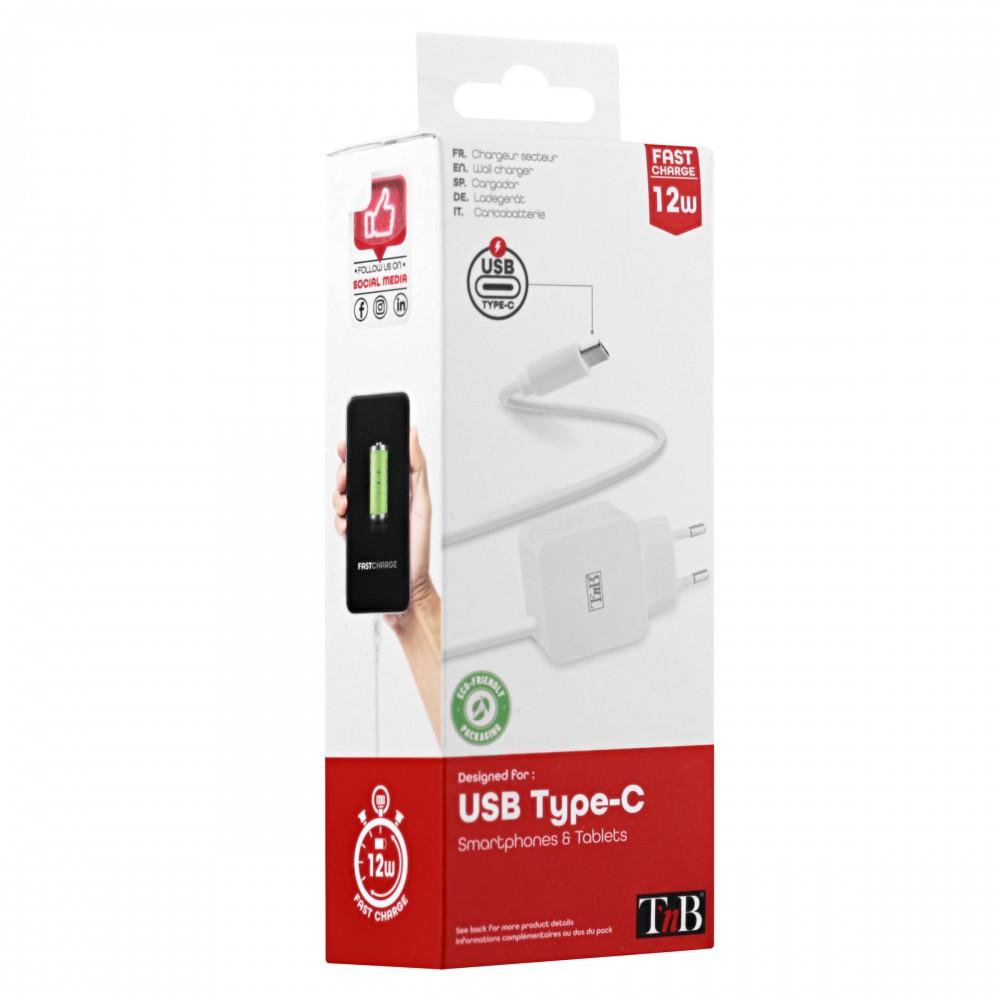 CHARGEUR SECTEUR USB-C 2.4A