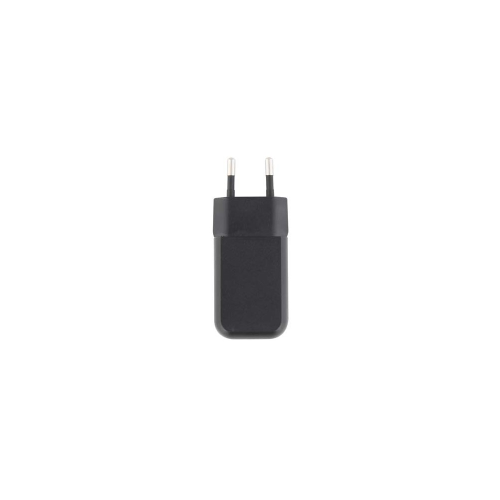 BLACK USB 1A MAINS CHARGER
