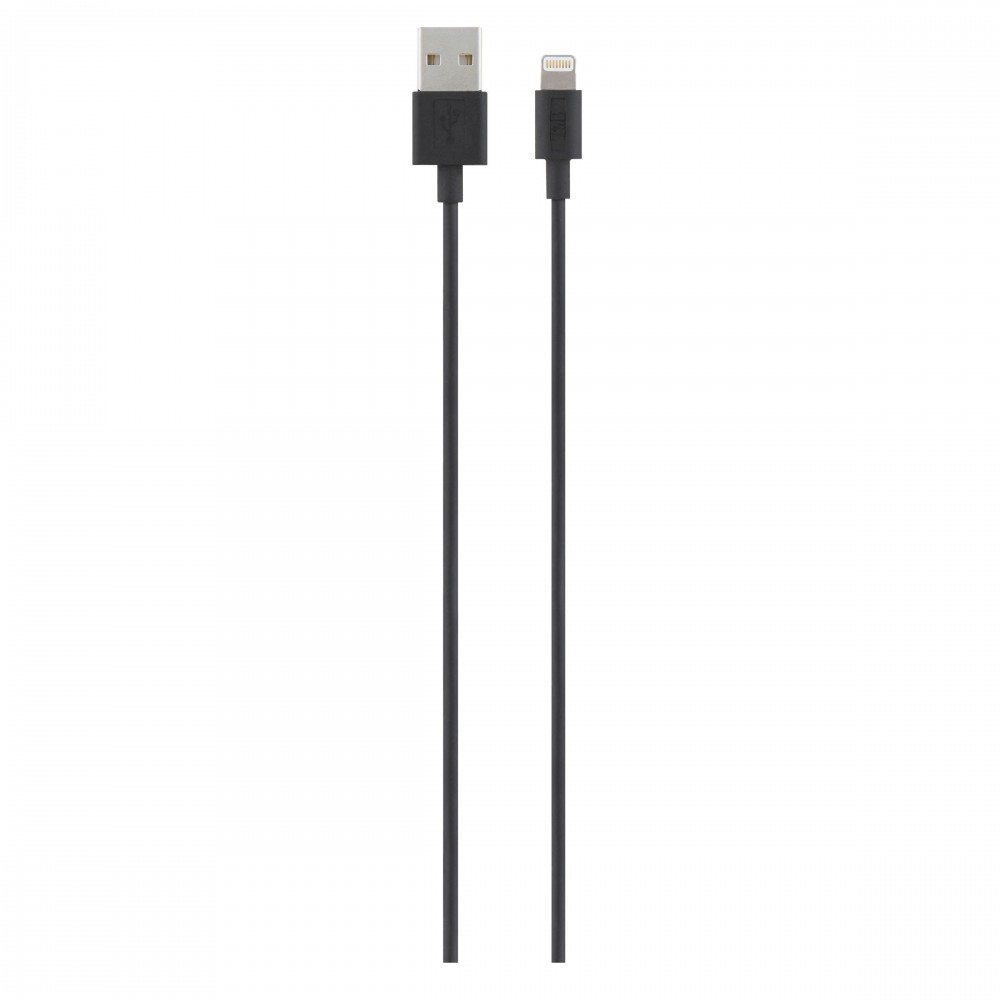 LIGHTNING/USB CABLE 1M BLACK