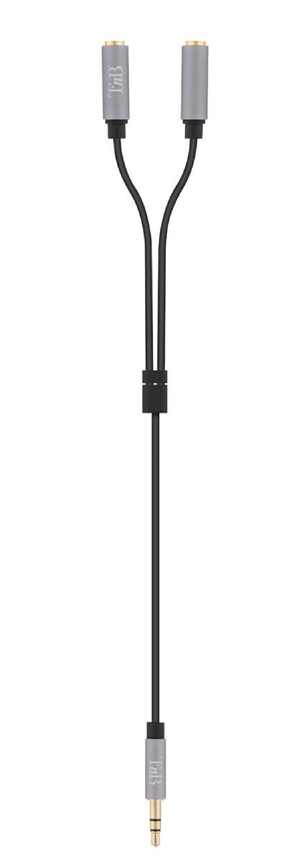 3.5MM JACK SPLITTER CABLE MALE/2 X FEMALE