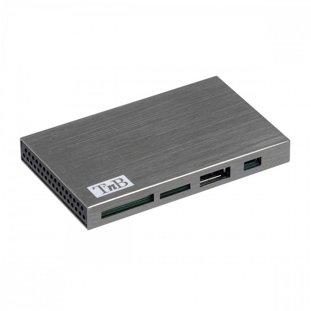 PACK HUB USB/LECTEUR CARTE ALU