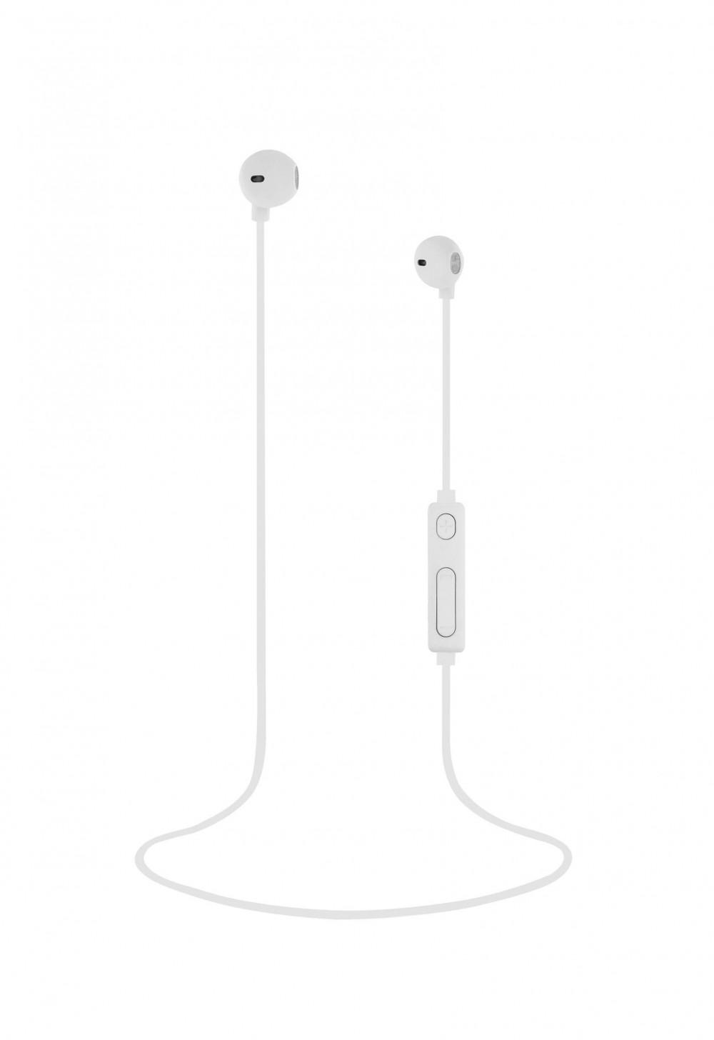 WHITE BT SWEET EARPHONES + MIC
