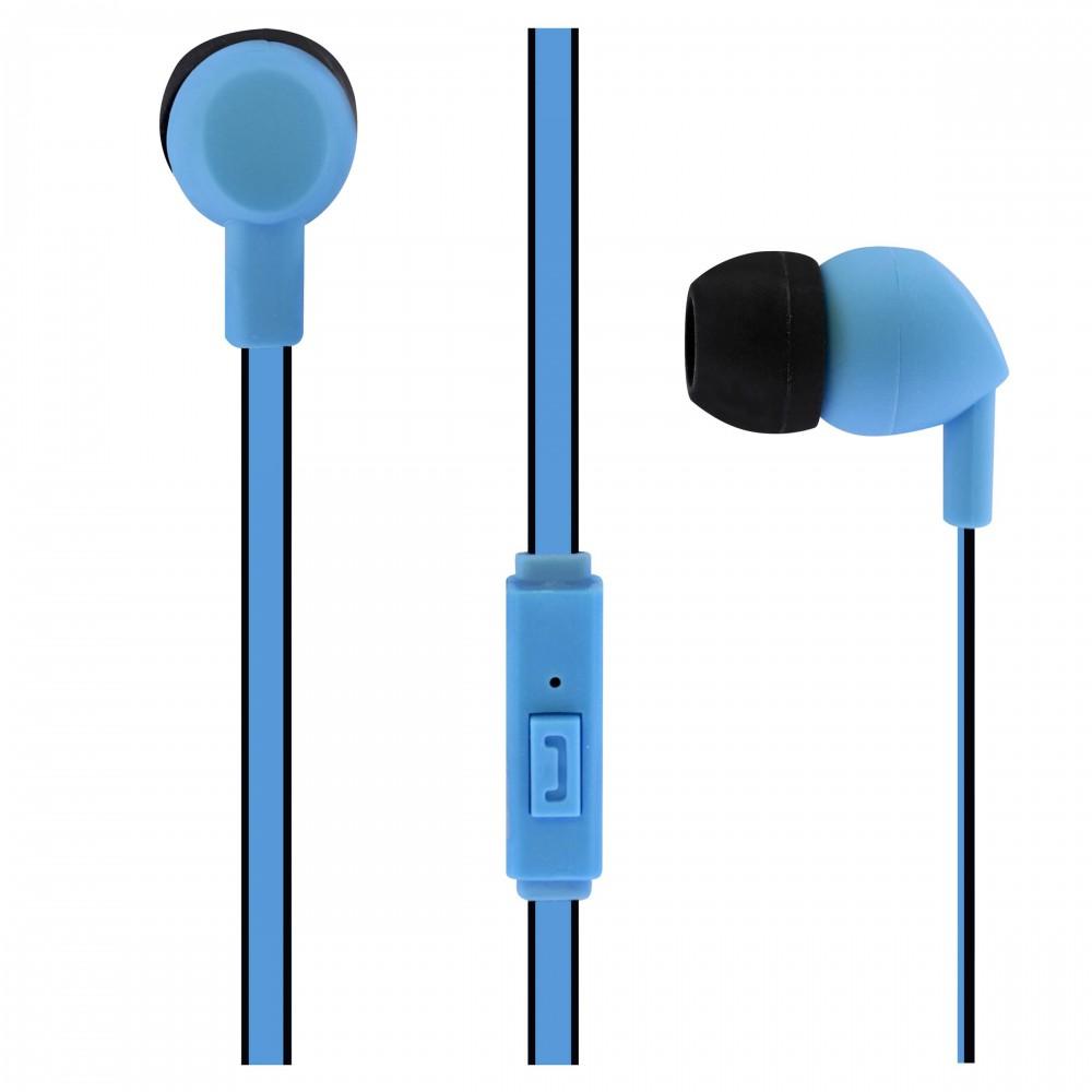 BLUE BE COLOR EARPHONES + MIC