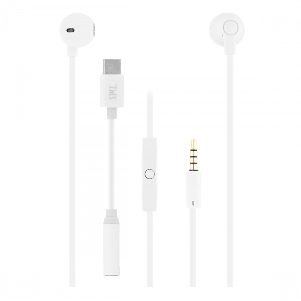 WHITE SWEET EARPHONES + MIC