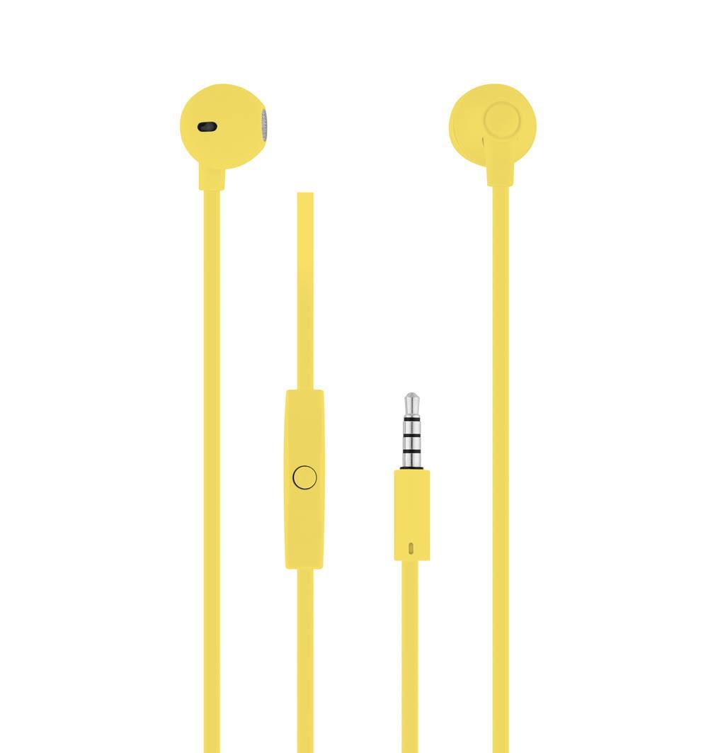YELLOW SWEET EARPHONES + MIC