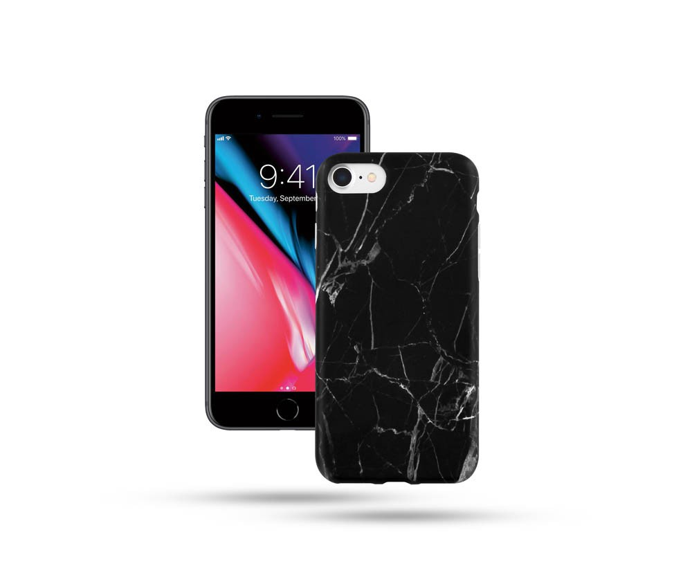 COVER FOR iPHONE 7/8 - MARBLE BLACK