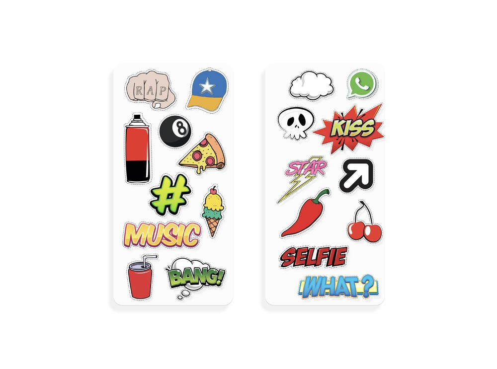 PLANCHES STICKERS TEL BOY