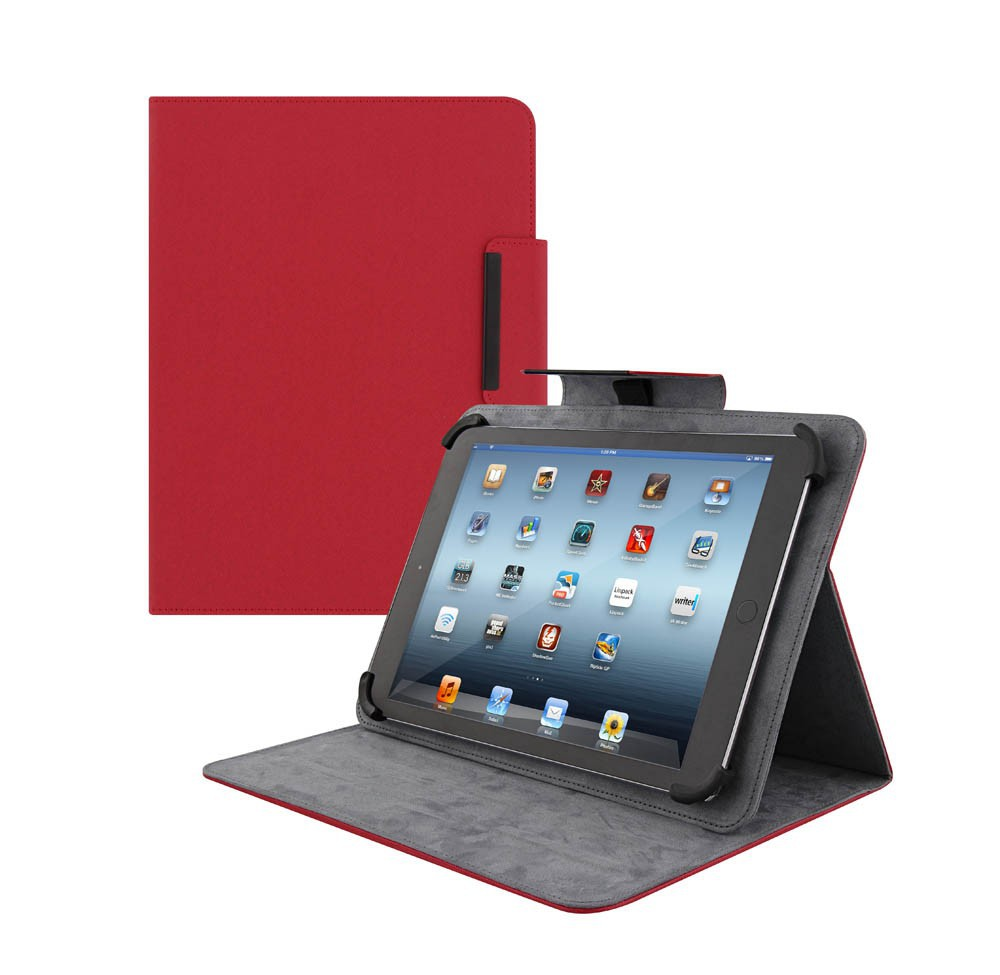 "REGULAR-UNIV FOLIO CASE  FOR 10"" TABLET PC-RED"