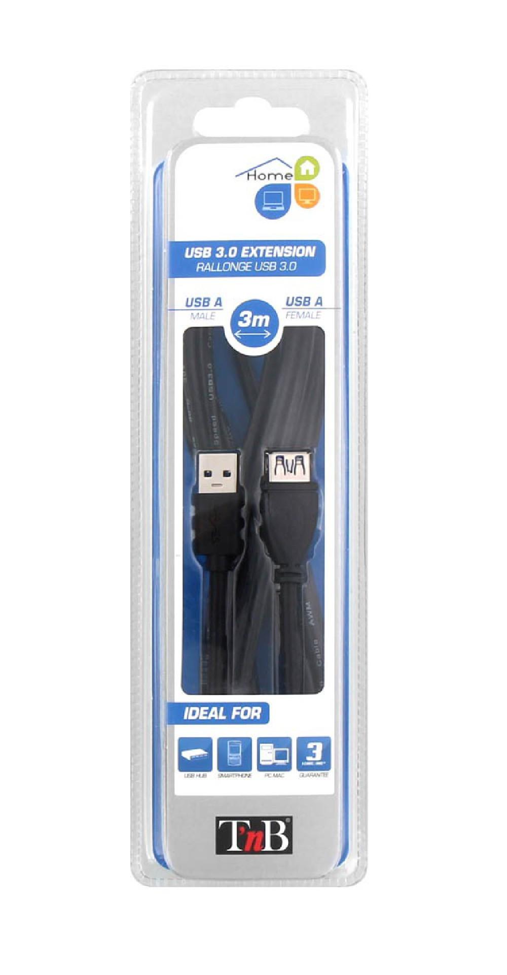 RALLONGE USB-A M/F 3M