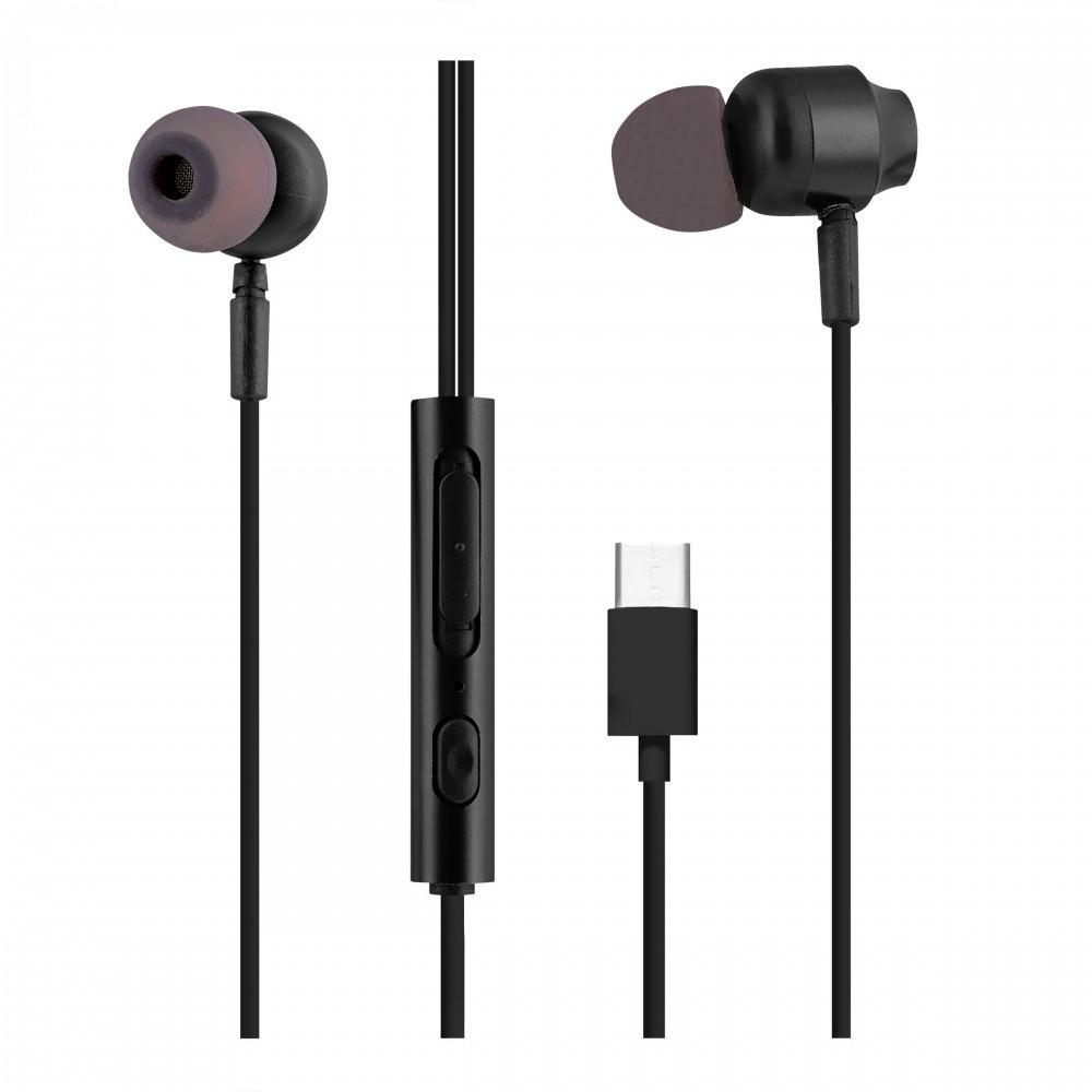 IN-EARS BLACK USBC EARPHONES
